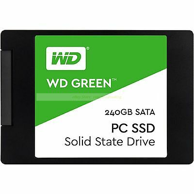 "Western Digital SSD 240GB WD Green 2.5"" 7mm 540MB/s Read Solid State Drive ct"