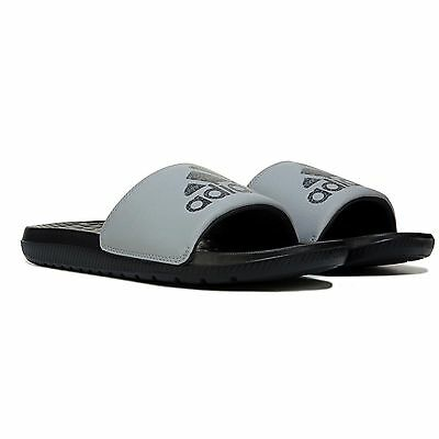 Adidas Voloomix Men's Black and Gray Slides/Sandals