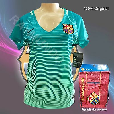 Nike Barcelona 3rd Womens Jersey Green Glow 16/17 (free gift with purchase)