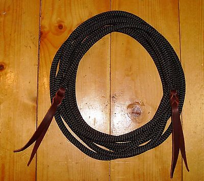 "New get down neck rope mecate 14 ft buckaroo horse tack lead rope 3/8"" round"