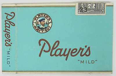 Player's Mild Cardboard Cigarette Wrapper