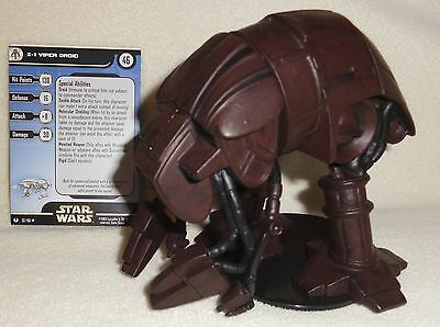 Star Wars Miniatures Universe X-1 VIPER DROID #32/60 with Card Huge ~ WOTC MINT