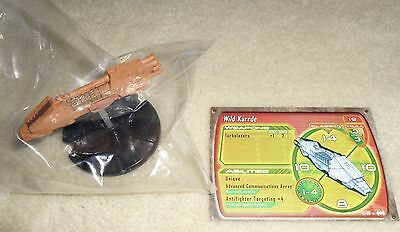 Star Wars Miniatures WILD KARRDE #13 Starship Battles RARE with Card NEW SEALED