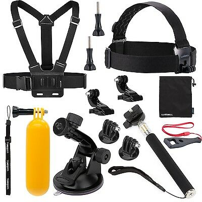 Luxebell Sport camera Accessories Kit for Gopro Hero 5 4 3+ 3 2 1 Action came...