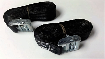 Pack Of 2 Cam Buckle Tie Down Straps Roof Racks Trailers 25 X 3000 Mm Long Blue