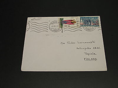 Tunisia 1963 airmail cover to Finland *14783