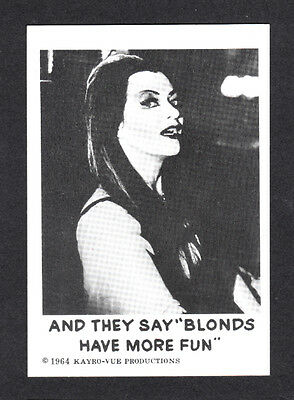 Trading Card~ TV's THE MUNSTERS #41 ~Leaf ~1964 ~Yvonne De Carlo