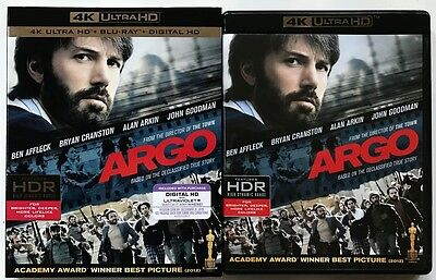 Argo 4K Ultra Hd Uhd Blu Ray 2 Disc Set + Slipcover Sleeve Free World Shipping