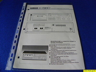 Yamaha K-560 Original  Reference Guide New ITALIANO  Language Italian