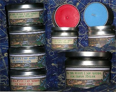 "Regular Size ""INSTANT CIRCLE"" Soy Elemental Watchtower Candles in a Can"