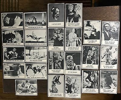 1966 Topps Monster Laffs Monster Trading Cards Lot Of 23 Cards 1966