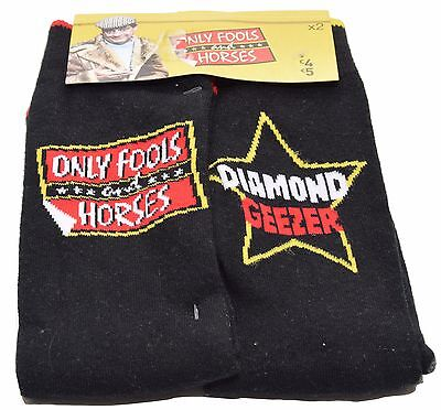 2 x Pairs Only Fools And Horses Novelty Men's Socks UK SIZE 6-11