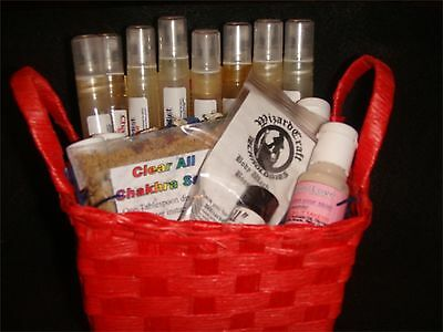 Clear All 7 Chakra Sampler Set  Candles, Spray's, & Lotions