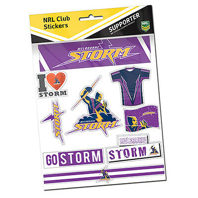 Melbourne Storm NRL Sticker Stickers Sheet **NRL OFFICIAL MERCHANDISE**