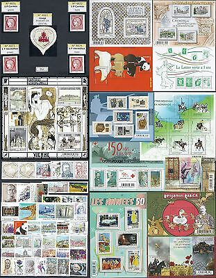 FRANCE -ANNEE 2014 Complete  94 timbres du N° 4832 au N° 4922 NEUF**LUXE