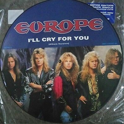 """EUROPE: I'll Cry For You (12"""" picture disc) 657697-6 / prisoner in paradise 1991"""