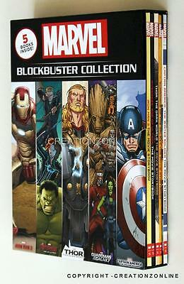 Marvel Blockbuster Collection5 Book Set Captain America Thor Avengers Iron Man
