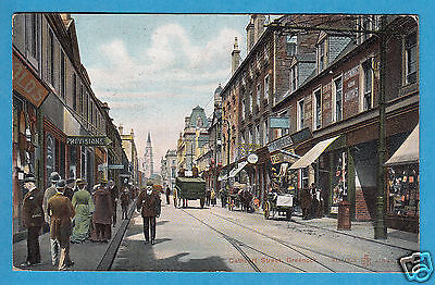 Renfrewshire: Cathcart Street, Greenock - Shops/Carts - PC PU 1911 (P265)