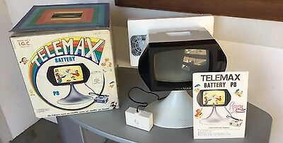 VINTAGE 70s# TV TELEMAX P8 PROJECTOR # FULL COMPLETO