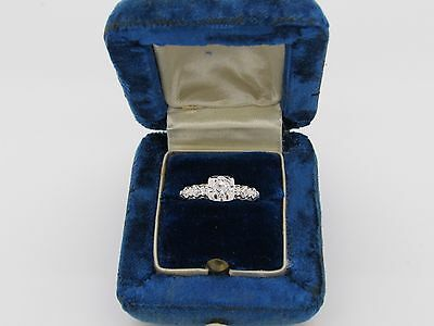 Vintage Art Deco antique engagement ring .50 diamond VS color F