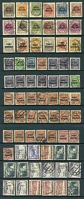 Poland Post Office Danzig Port Gdansk Overprints. Mixed Used Stamps. High Cat