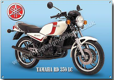 Yamaha Rd 350 Lc Motorcycle Metal Sign.vintage 2 Stroke Japanese Motorcycles .a3