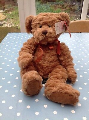 Russ Berrie Collectable Twinings Teddy Bear. New With Tag And Bag