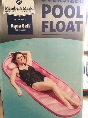NEW Oversized with Aqua Cell Foam Swimming Pool Float Mattress Pink