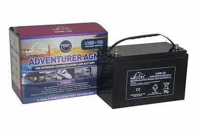 12V 130 AH Leoch Adventurer AGM Deep Cycle Leisure Battery