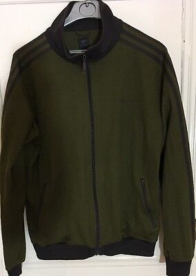 Adidas Originals Tracksuit Top - Green And Black - Size Large