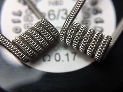 Staggered Fused Clapton 2 Coils Nichrome Ni80