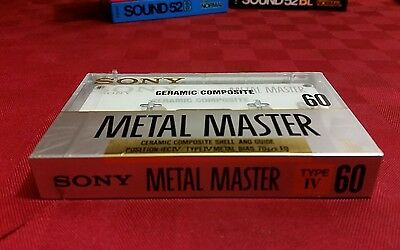 audio cassetta sony metal master ceramic composite 60 vintage
