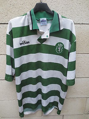 VINTAGE Maillot SCP SPORTING PORTUGAL Emeve jersey shirt camiseta L