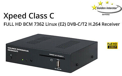 Golden Interstar Xpeed LX Class C/T2 (H.264) , 2000 mips,Linux Receiver