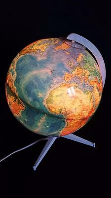 Rare Vintage Desktop Duo Illuminated Columbus World Globe   1970's