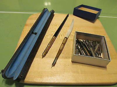 Vintage Spencer Dip Pen Cased  & accessories