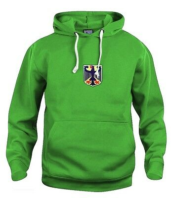Retro West Germany Green 1974 Olympic Football Hoodie Embroidered Sizes S-XXXL
