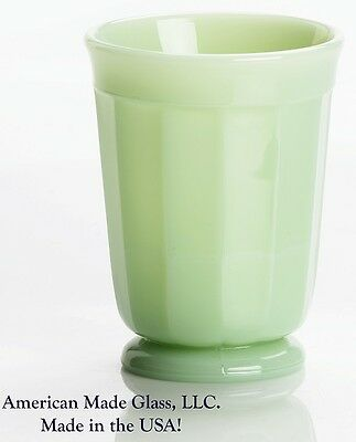 Jade Jadite Jadeite Milk Green Glass Paneled Tumbler