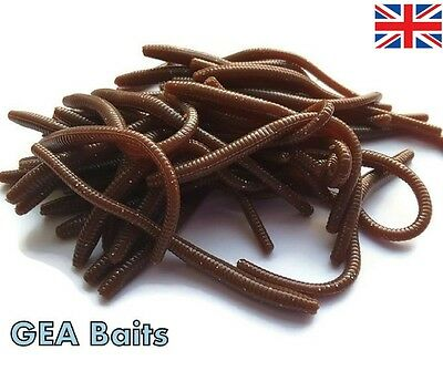 HOT NEW!!! Trout Worm Earthworm Sea Fishing Soft Lures Tackle Baits 8cm