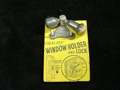 Vintage Antique Gravity Window Holder And Lock Stop  New