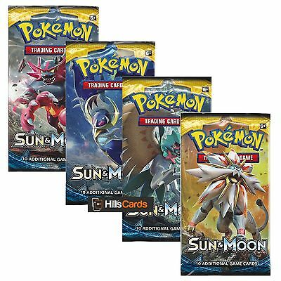 Pokemon Sun & Moon: 4 Sealed Booster Packs - New Trading Cards for 2017 - SM-1
