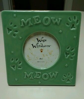 NEW Cat/Meow Picture Frame-Cat Lovers Gift! (PORCELAIN)