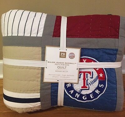 NEW Pottery Barn Teen MLB Patchwork FULL QUEEN Quilt AMERICAN LEAGUE