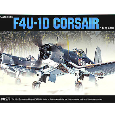 Academy 1/48 F4U-1D CORSAIR Fighter Plastic Model Kit Airplanes #12273