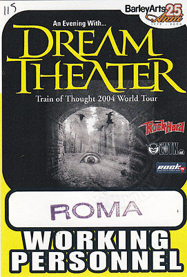 DREAM THEATER original pass WORKING PERSONNEL 2004 Italy (H.39)