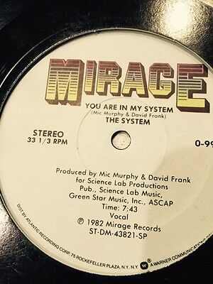 """The System -  You Are In My system 12"""" Single"""
