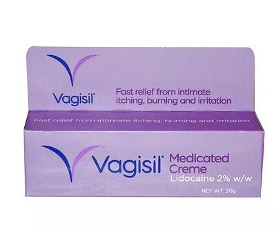 Vagisil Medicated Cream Fast Relief From Vaginal  Feminine Itching,  - 30g