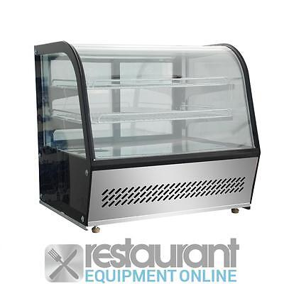 Commercial Curved Countertops HTR100 - 100L Chilled Counter-Top Food Display