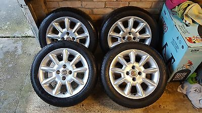 """4x GENUINE Rover/MG 15"""" Wheels with NEW TYRES 185/55R15"""