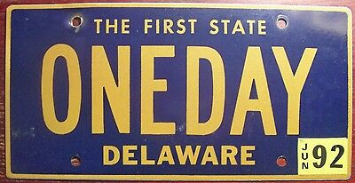 1992 Delaware Vanity Personalized License Plate One Day At A Time Novel Vitamins